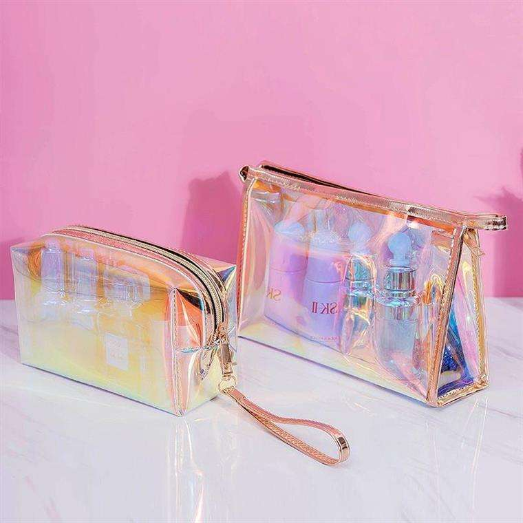 Waterproof Printedトイレバッグpvc Zipper Clear Cosmetic Bag PVCためTravel