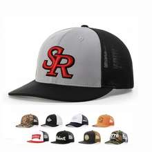 High Quality Richardson 112 Mesh Embroidered OEM Custom Embroidery Logo Gorras Trucker Mesh Cap Hat