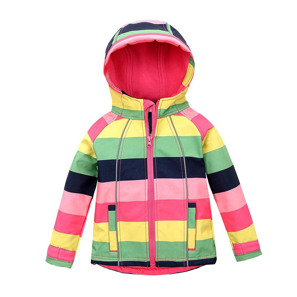 ZUJA обувь для девочек с капюшоном флисовая подкладка ветрозащитный свитер ветровка флисовая куртка детей