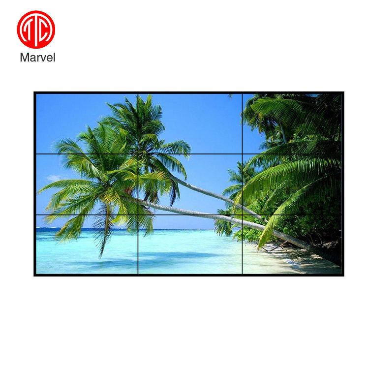 55 pollici ultra sottile lunetta 1.8mm HD 4 k smart TV flessibile di buona qualità led/<span class=keywords><strong>lcd</strong></span> tv 3x3 parete video a cristalli liquidi