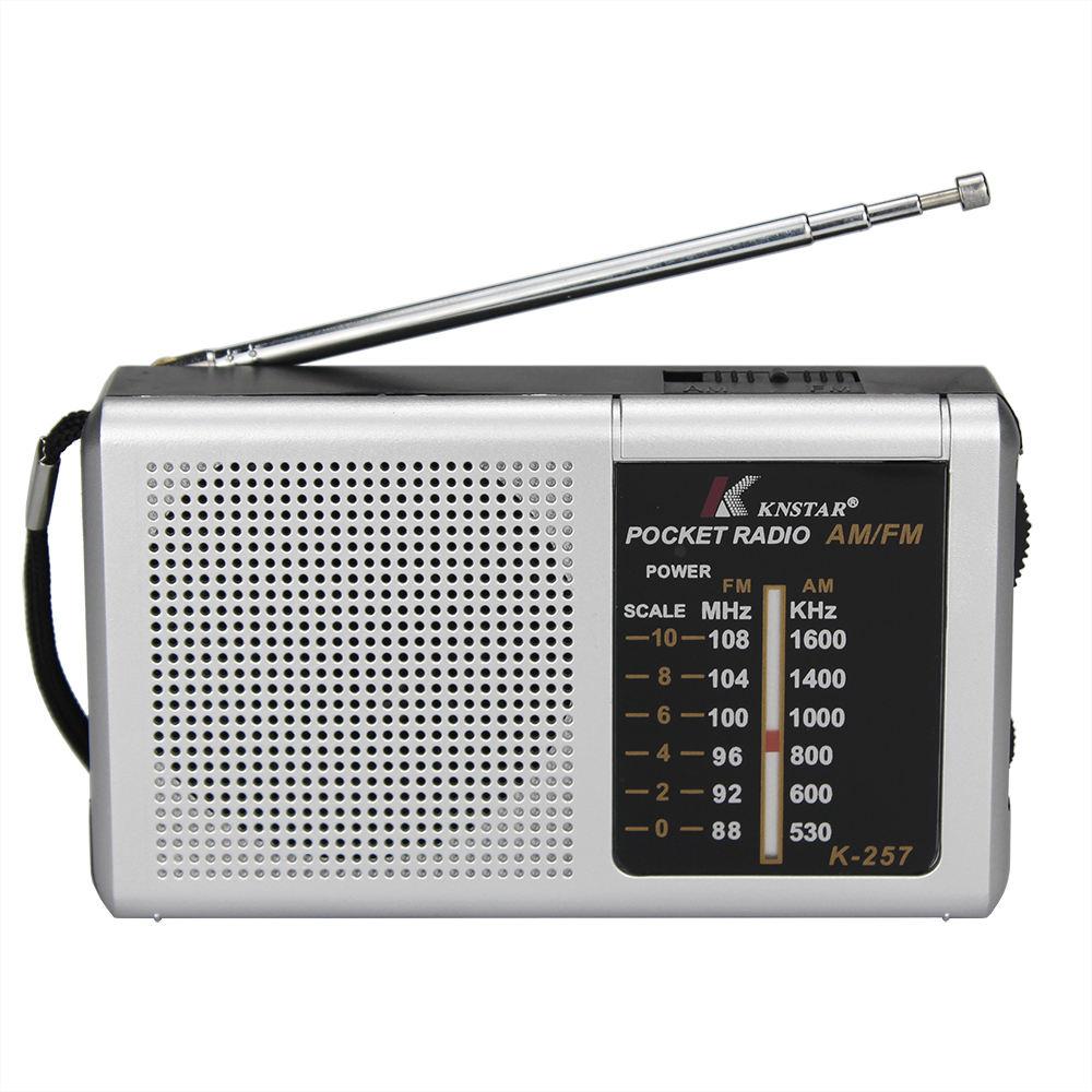 Radio Receiver K-257 Mini Portable Am Fm 2Band Pocket Radios Receiver