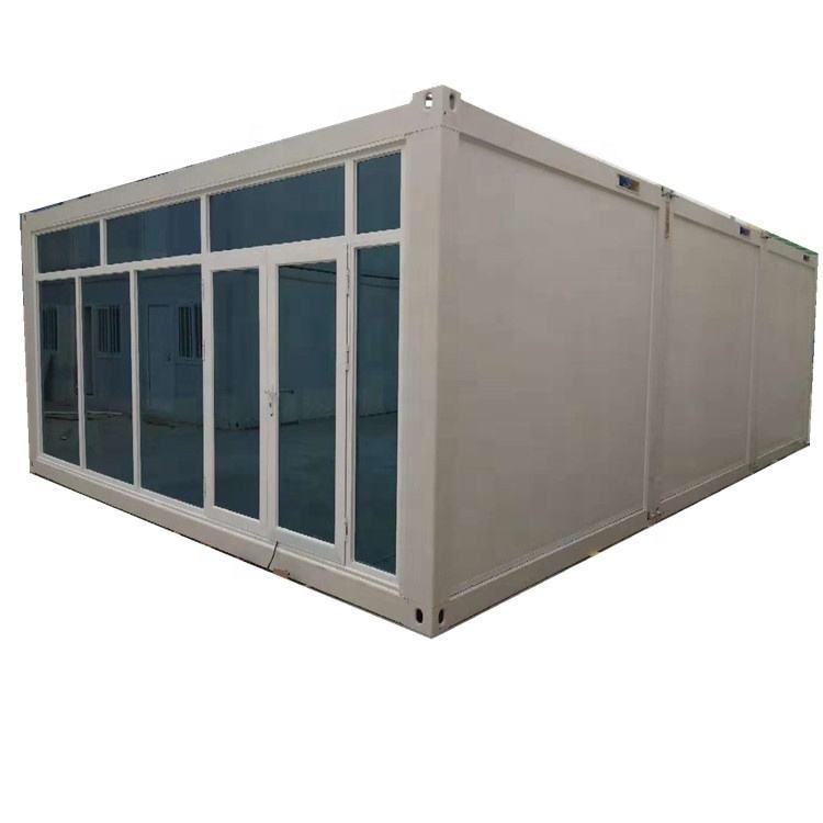 20ft conteneur d'expédition bar design conteneur café/magasin/cabine avec porte coulissante en verre