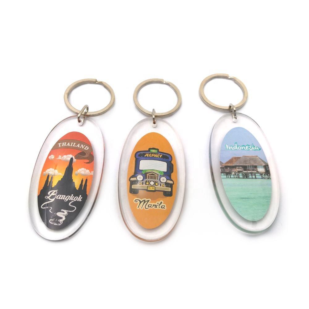 Popular muy hermosa moda recuerdos turísticos coloridos pvc acrílico <span class=keywords><strong>llavero</strong></span>