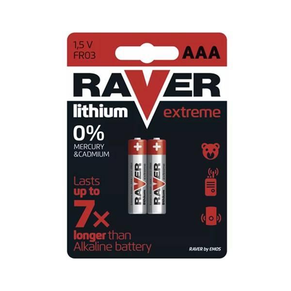 High Function 1.5V RAVER FR03 Lithium Battery