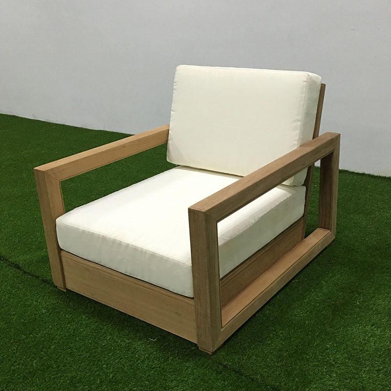 Sofá de madera de teca silla individual uso de muebles de exterior uso de muebles de jardín de patio
