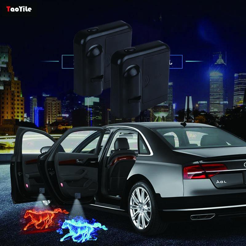 الأشعة تحت الحمراء اللاسلكية الاستشعار led باب السيارة المجاملة جهاز عرض ليزر السيارات أضواء باب السيارة شعار