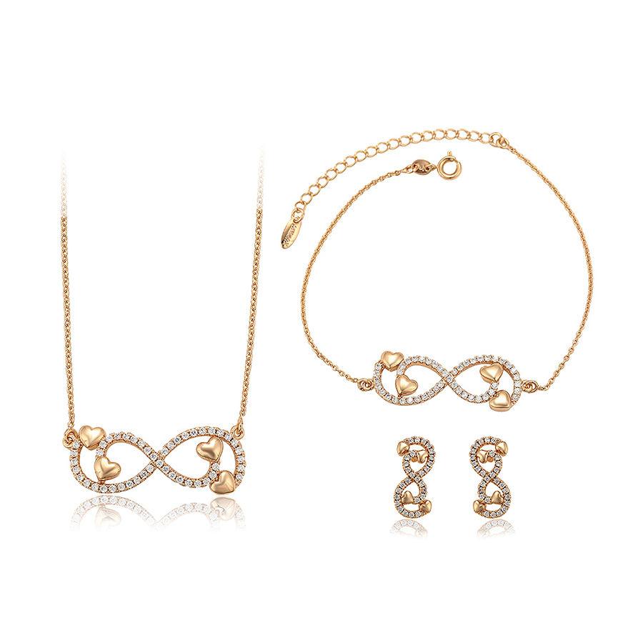Новинка 65656 Xuping, бесплатная доставка, набор сережек и ожерелий в форме сердца