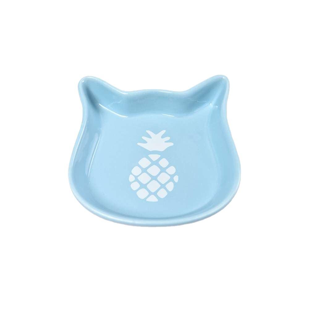 Thăng Hoa Mèo Hình Dạng Gốm Chiếc Đĩa Vật Nuôi Bát Cơ Sở