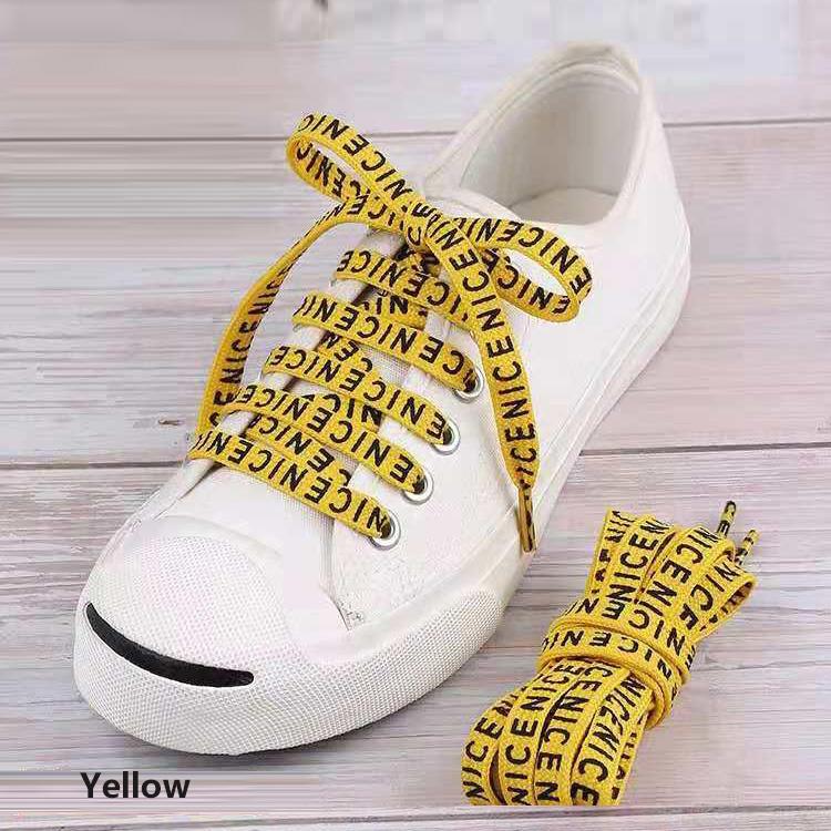 لون مخصص تصاميم البوليستر الطباعة المسطحة حذاء ال<span class=keywords><strong>أربطة</strong></span> سلسلة مع المعادن