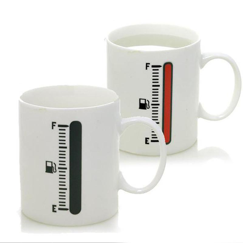 Uchome温度計マグセラミックカップ変色マジックコーヒーマグ