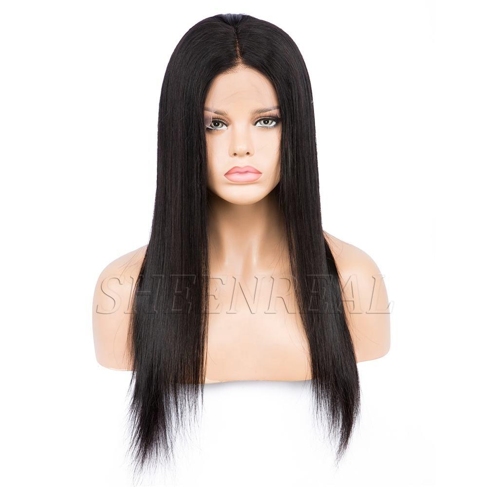 130% de densidad Natural negro pelo <span class=keywords><strong>peluca</strong></span> del pelo humano recto pelucas delanteras de encaje <span class=keywords><strong>Peluca</strong></span> de pelo virginal brasileña