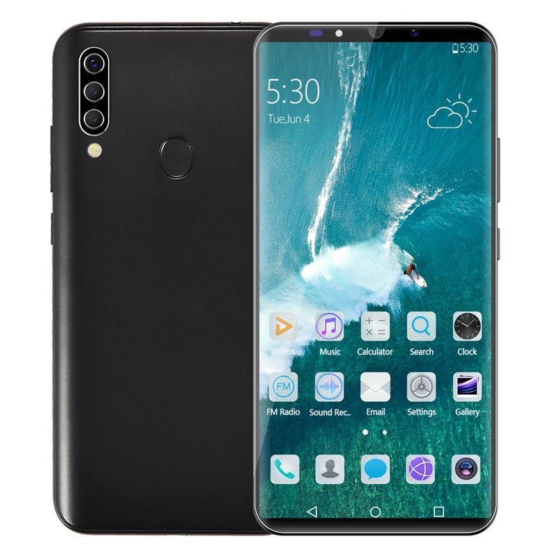 Novo 2020 tela sensível ao toque android mtk M30 global 64 4GB de RAM GB ROM desbloqueado telefone