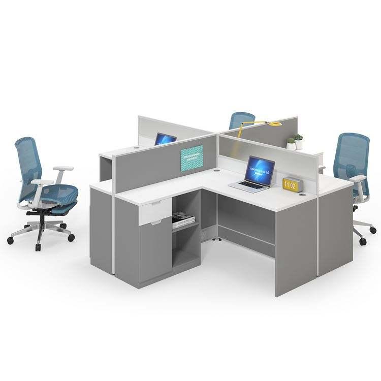 Espacio abierto de la Oficina Privada de dos personas estación de trabajo de oficina
