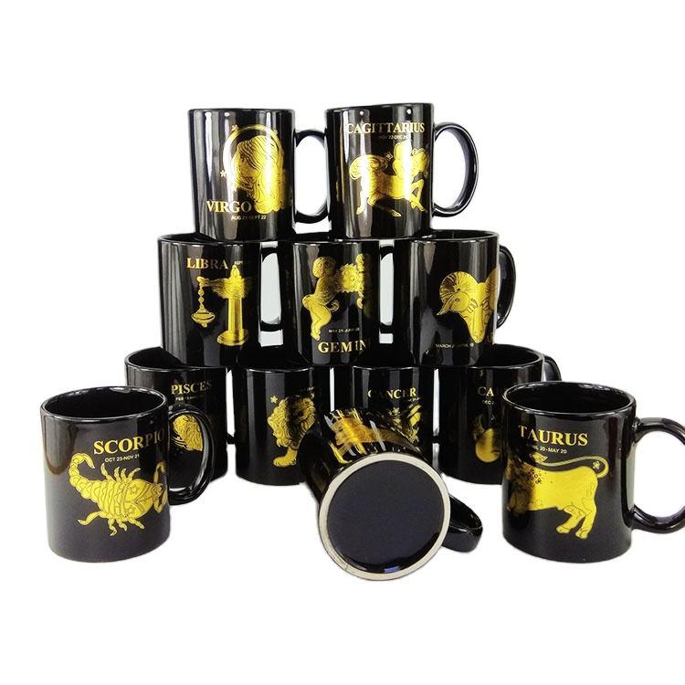 Noir personnalisé de sublimation tasse à café en céramique pour <span class=keywords><strong>cadeau</strong></span> créatif