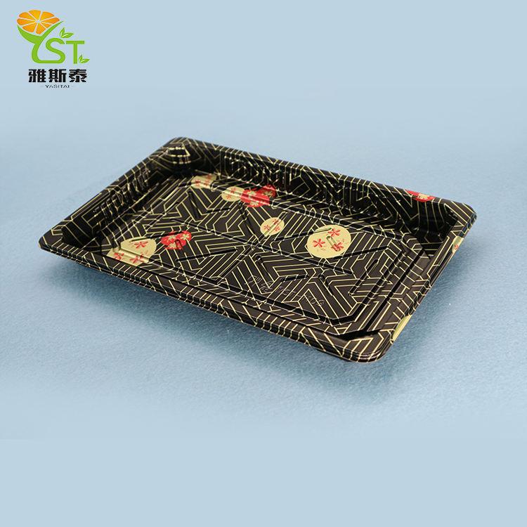 Mejor Venta caliente chino productos bandeja desechable de plástico de comida sushi contenedor