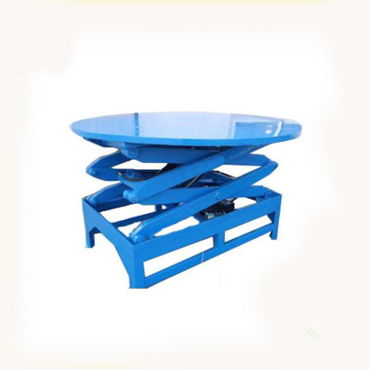 로우 프로파일 테이블 회전 유압 무대 테이블 주문형 미니 가위 리프트