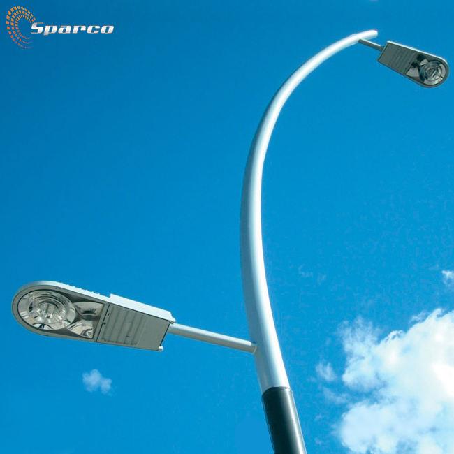 Sparco galvanizado por inmersión en caliente de acero Q235 6M 8M 10M poste de luz al aire libre durable brazo de poste de luz lámpara de acero inoxidable de polo