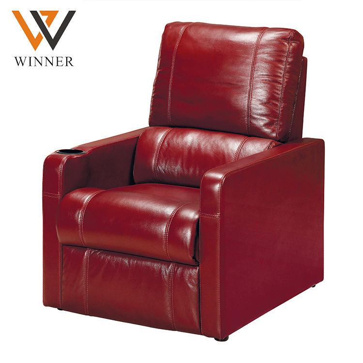 Asiento de cuero genuino sillón reclinable casa reclin móvil teatro asientos vip cine eléctrico asiento del sofá