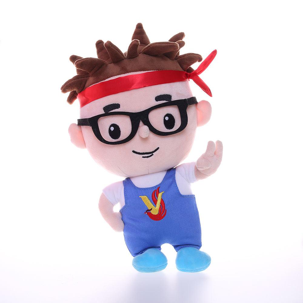 China Ginasta Boneca de Pelúcia Dos Desenhos Animados Encantador Chinês Superman Com Óculos Para Novo Presente Da Promoção