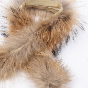 CremeFox fur trim-real fox fur strips