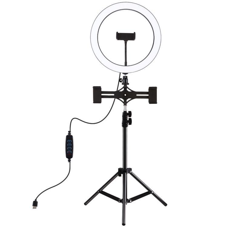 الموضة بولوز 11.8 بوصة 30 سنتيمتر ضوء 1.1 متر ترايبود جبل المزدوج الهاتف LED حلقة تسجيل الفيديو الضوئي البث المباشر أطقم