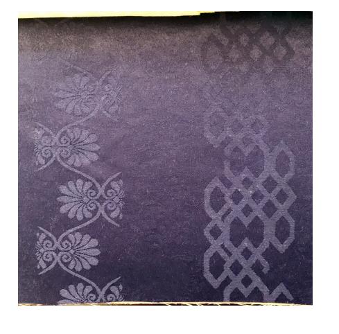De moda púrpura Floral tejido de poliéster Jacquard satén brocado tela para prendas de vestir