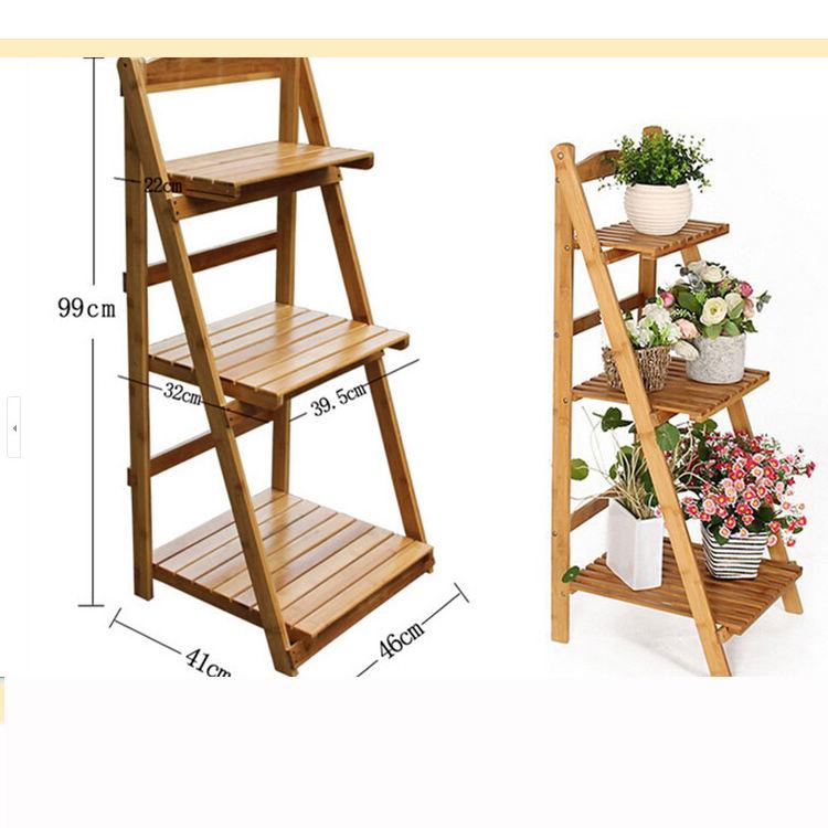Jardín de alta calidad soporte de flores de madera