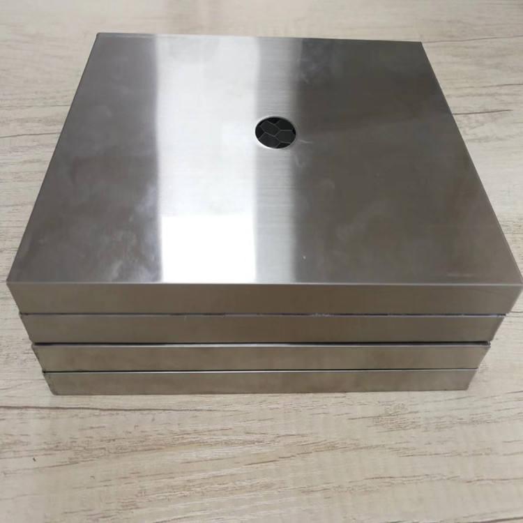 Personalizado de metal de plata de aluminio de nido de abeja, el panel de techo