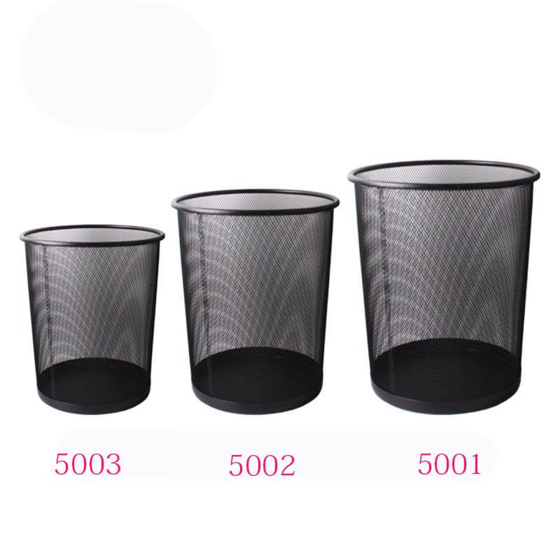 Barbed wire trash can for office Simple Black Silver Iron Paper Basket