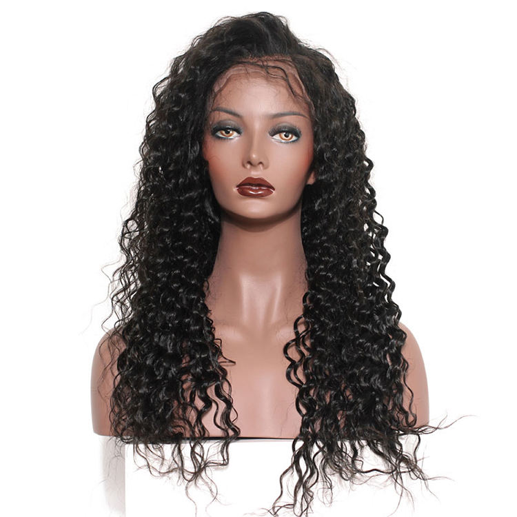 40 pulgadas rizado de la onda profunda de cabello humano de encaje completo transparente Suiza hd <span class=keywords><strong>Peluca</strong></span> de encaje