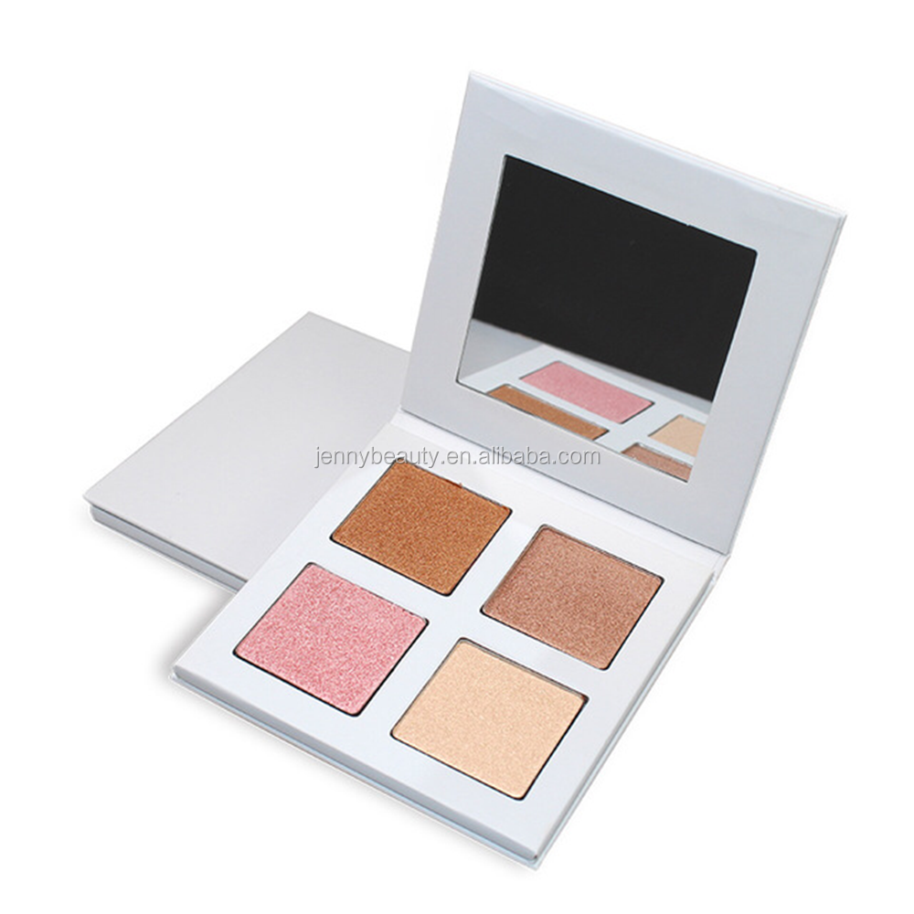 4 colors private label highlighter pressed powder with your logo printed
