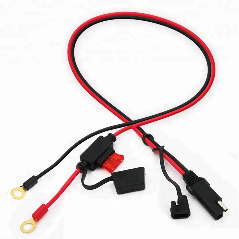 Automatique De Voiture De Fil Connecteur D'extension à Déconnexion Rapide 2 Broches Sae 12V D'alimentation Fusionné Câble De Batterie