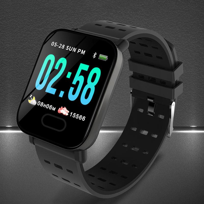 A6 farbe bildschirm smart armband echt-zeit herz rate und blutdruck schlaf überwachung wasserdicht direkte <span class=keywords><strong>musik</strong></span>