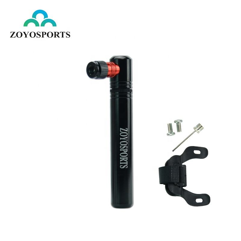 ZOYOSPORTS 2021 new design Mini Portable Bicycle Pump Aluminum Alloy Tire Air Inflator Pump For Mountain Bike Bicycle Accessory
