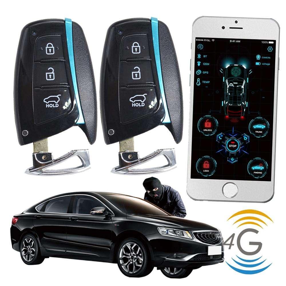 Cardot 4g gps gsm Smart Pke arrancador remoto bKeyless entrada motor para coche sistema de <span class=keywords><strong>alarma</strong></span>