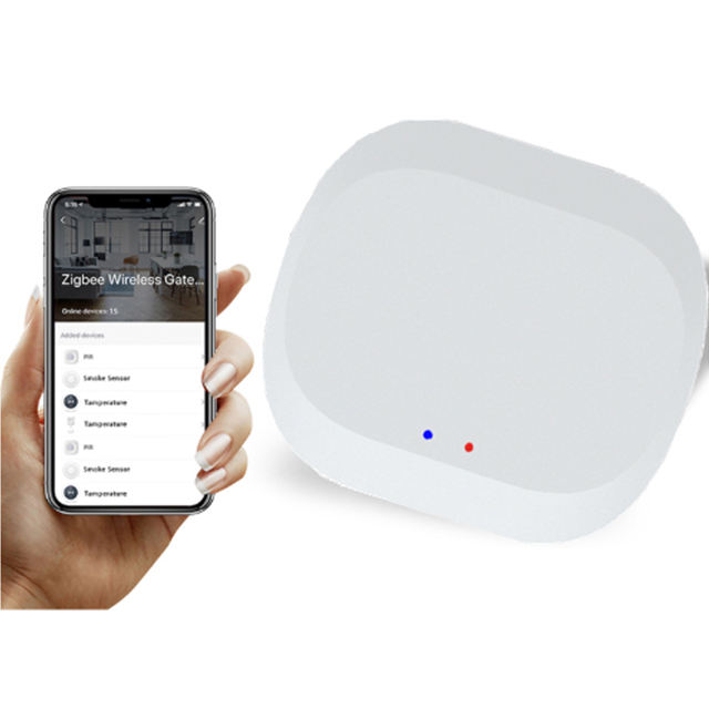 Hot Menjual Smart Home Automation Tuya App Didukung Echo Speaker Dikendalikan <span class=keywords><strong>Zigbee</strong></span> Gateway