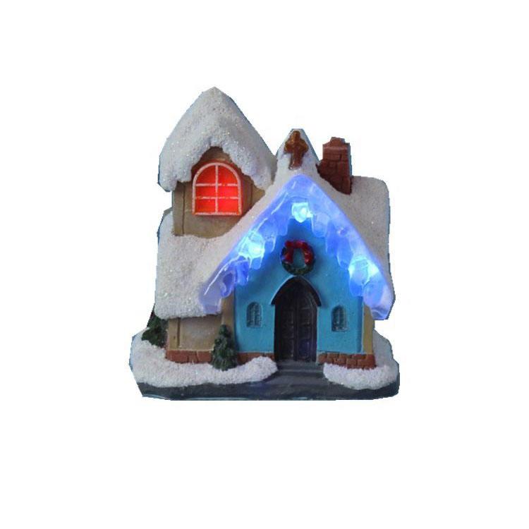 Оптовая продажа, принадлежности для искусства и <span class=keywords><strong>ремесел</strong></span>, набор, 4 дюйма, рождественское освещение, дом с украшением