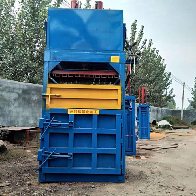 High efficient durable 5-8 bags/h clothing baling machine with lifetime technical service