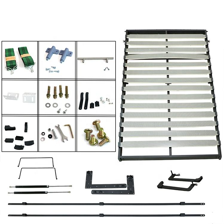 Verticale-Mount <span class=keywords><strong>Murphy</strong></span> Letto Hardware Kit con Materasso Della Piattaforma-Bianco