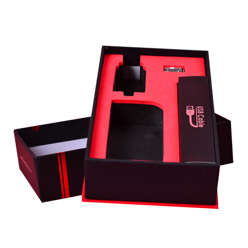 Alta calidad smart cartón kraft cable usb batería cartucho empaquetados caja