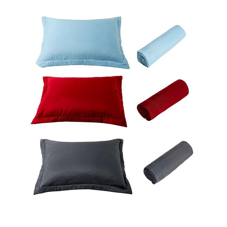 Высокое качество мягкая и уютная King Size 100% микрофибра наволочка кровать подушка набор из 2