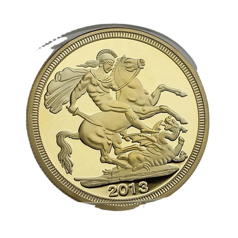 Nữ Hoàng Elizabeth Các Nữ Hoàng Của Vương Quốc Anh 2013 Con Ngựa Vàng Bạc Coin Hiệp Sĩ Đồng Xu