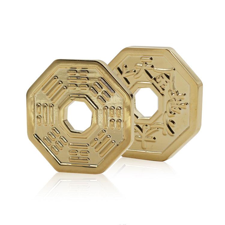 Muestra libre barato de Metal de <span class=keywords><strong>bronce</strong></span> <span class=keywords><strong>latón</strong></span> blanco monedas China 3D suerte muestra recuerdo moneda conmemorativa