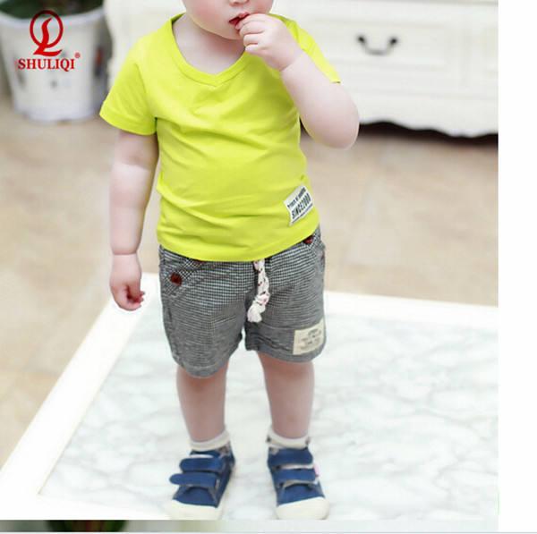 Модный школьный стиль в клетку одежда для маленьких мальчиков
