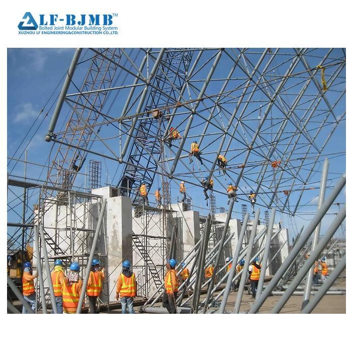 Xuzhou LF BJMB Struttura In Acciaio Spazio griglia Della Cupola di Costruzione di Costruzione <span class=keywords><strong>capannone</strong></span>/che copre