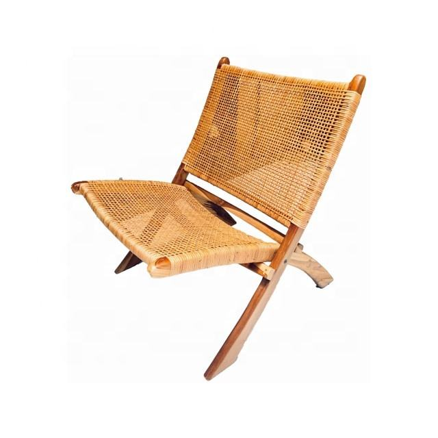 Modern BSCI TUV VLEGAL Certified Rattan Folding Chair 1 Made From High Quality Teak Wood For Outdoor Furniture