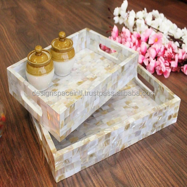 Good looking mother of pearl serving tray at budget price