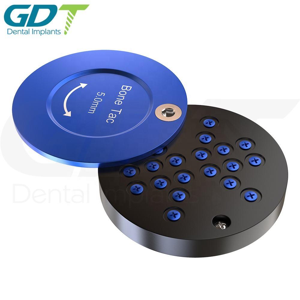 GBR System Bone Tac Screw Diameter 5.0mm Blue Case Mesh Membrane Fixation Dental Implant