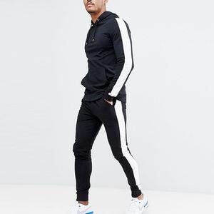 Designer Fitted slim fit tracksuit set Muscle gym mens poly logo fashion lot