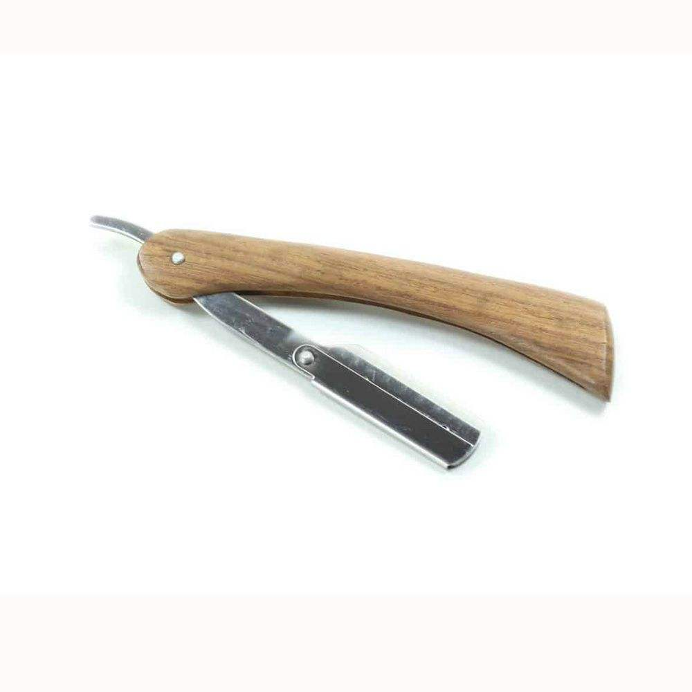 Branded Hair Dressing Razors For Barbers With Wooden Handle Razors With Custom Logo